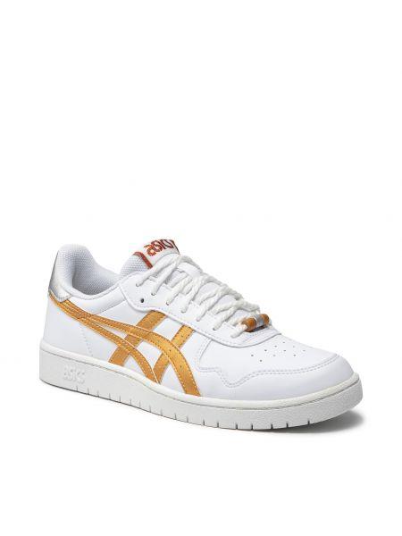 Złote buty sportowe - białe Asics