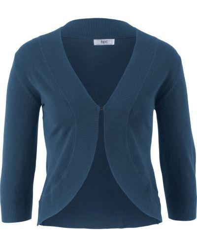 Темно-синее вязаное болеро Bonprix