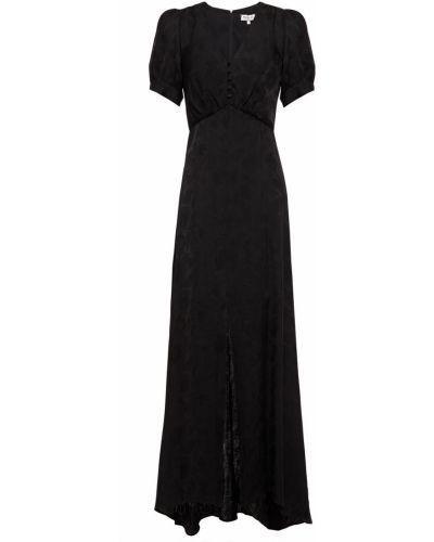 Черное платье макси из вискозы с подкладкой Paul & Joe