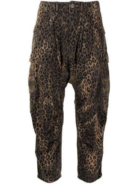 Укороченные брюки - коричневые R13