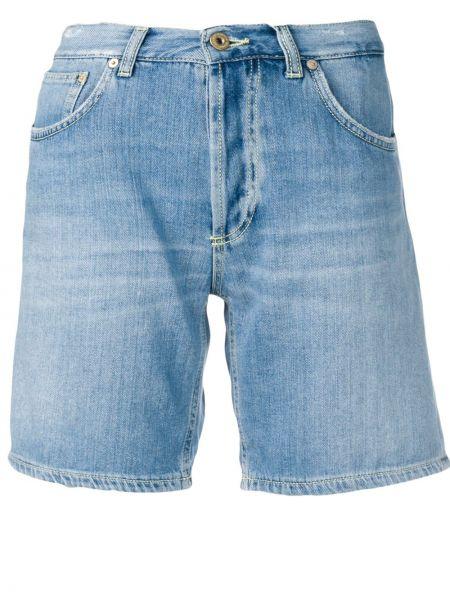Хлопковые прямые синие шорты Dondup