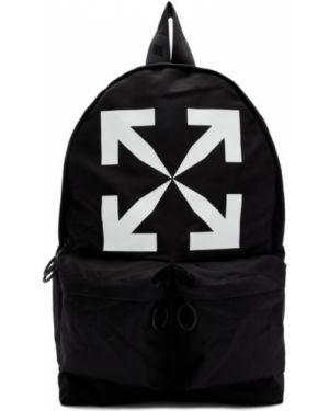 Plecak na laptopa włókienniczy biały Off-white