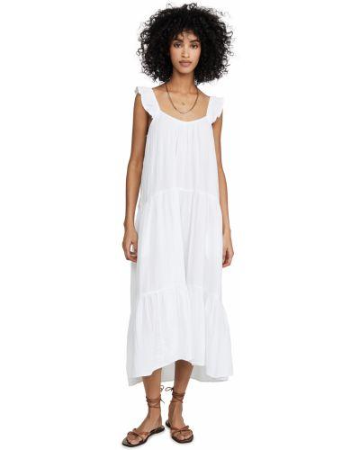 Хлопковое белое платье стрейч Xírena