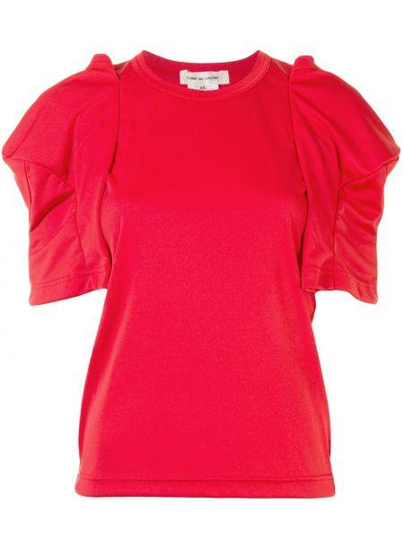 Красный топ с оборками с круглым вырезом круглый Comme Des Garçons