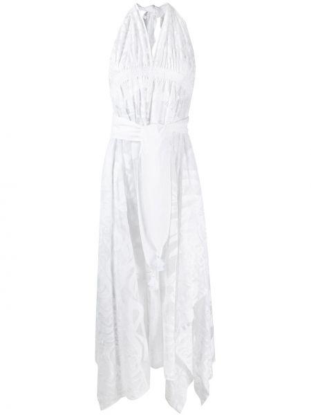 Платье миди с цветочным принтом сетчатое Emilio Pucci
