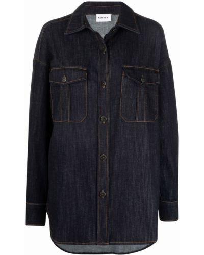 Синяя джинсовая джинсовая рубашка P.a.r.o.s.h.