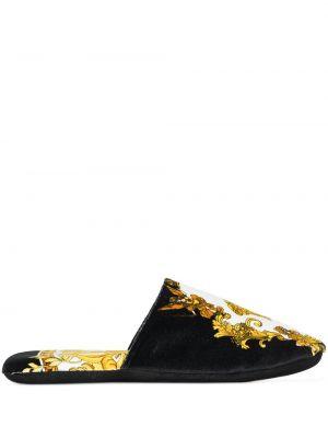 Тапочки из полиуретана - черные Versace