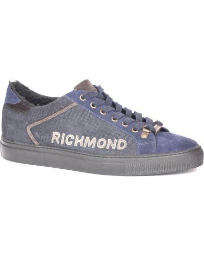Кроссовки с мехом замшевые Richmond