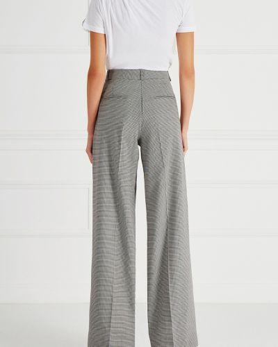 Свободные брюки в клетку со стрелками Victoria Beckham