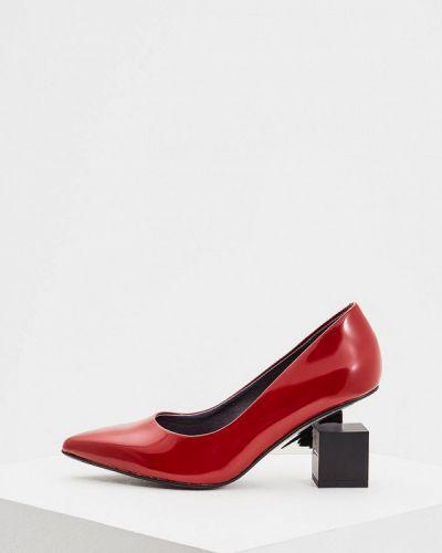 Кожаные туфли осенние на каблуке United Nude