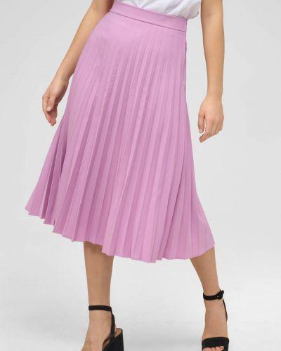 Fioletowa spódnica midi z wiskozy Orsay