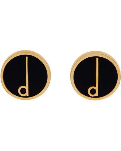 Czarne złote spinki do mankietów Dunhill