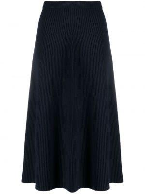 Шерстяная юбка - синяя Christian Wijnants
