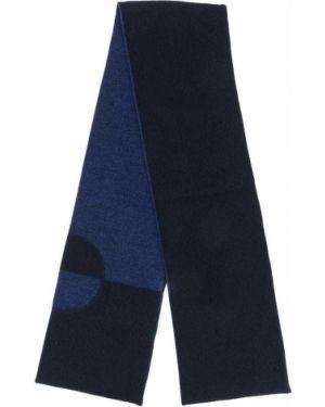 Niebieski z kaszmiru szalik z printem Baby Dior