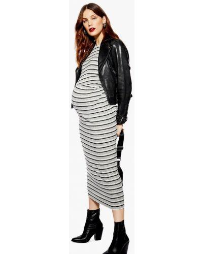 Серое платье Topshop Maternity
