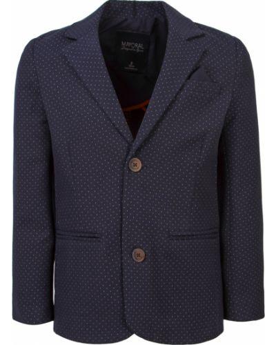 Хлопковый синий пиджак Mayoral
