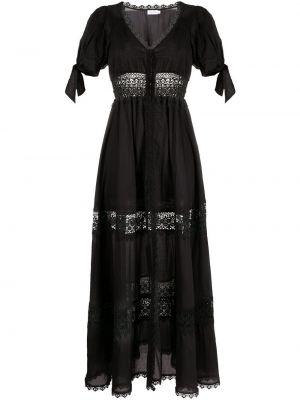 Czarna sukienka mini koronkowa z dekoltem w serek Charo Ruiz Ibiza