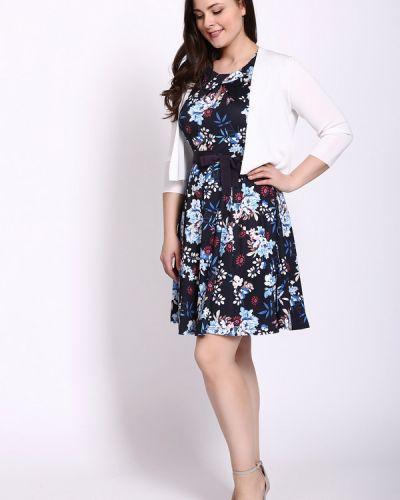 Платье с поясом расклешенное с воротником Taifun