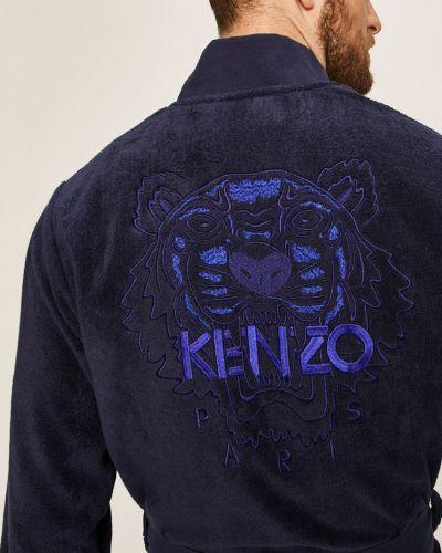 Szlafrok bawełniany granatowy Kenzo