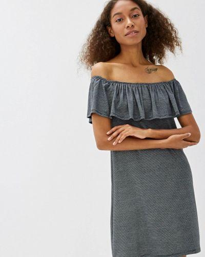 Платье серое с открытыми плечами Colin's