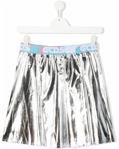 Серебряная юбка без застежки Gcds Kids