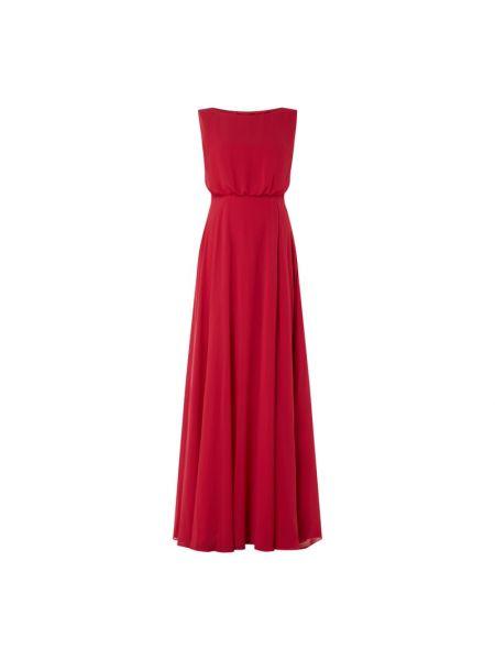 Różowa sukienka wieczorowa rozkloszowana z szyfonu Christian Berg Cocktail