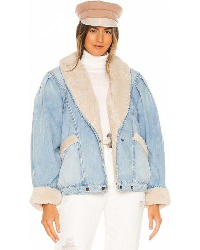 Синяя куртка из искусственного меха с подкладкой Lpa