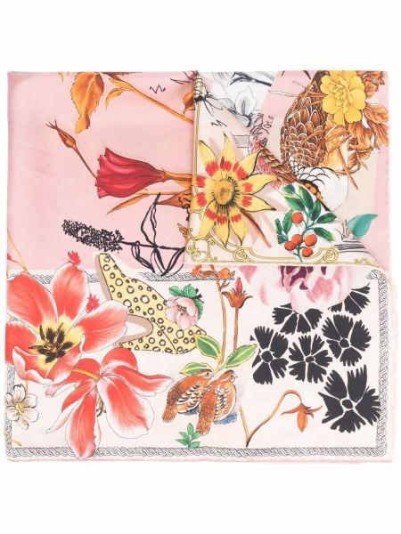 Шелковый платок - розовый Salvatore Ferragamo