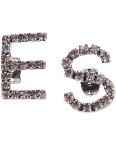 Серьги-гвоздики винтажные стеклянные Ermanno Scervino