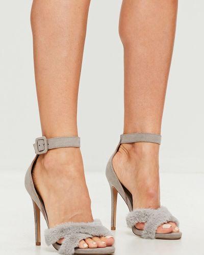 Серые туфли на высоком каблуке Missguided