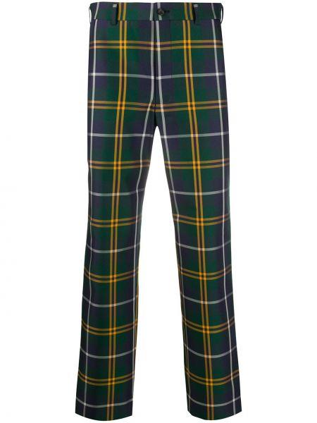 Zielone spodnie z paskiem Comme Des Garcons Homme Plus