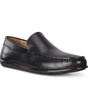 Черные классические кожаные мокасины с подкладкой Ecco
