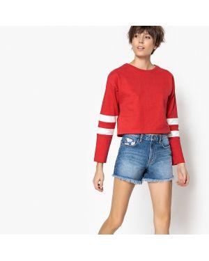 Красный свитшот спортивный La Redoute Collections