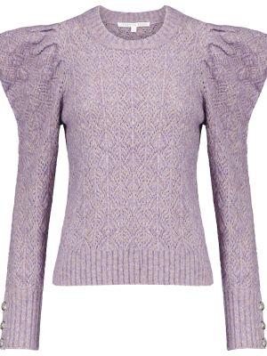 Фиолетовый шерстяной свитер для полных Veronica Beard