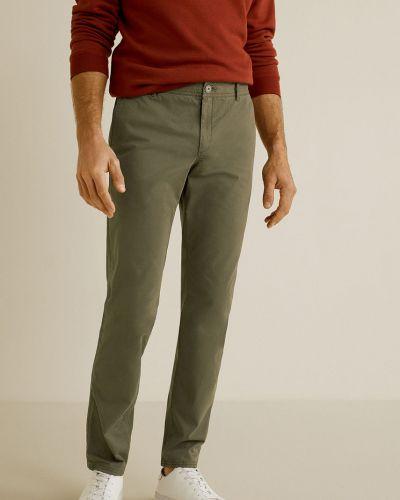 Spodnie chinos z kieszeniami wełniany Mango Man