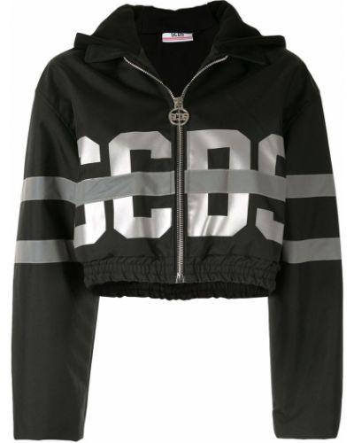 Черная длинная куртка Gcds