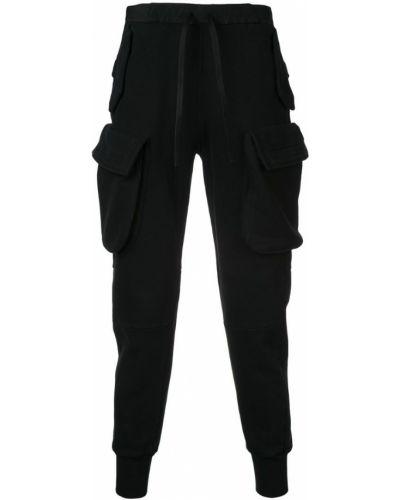 Зауженные брюки черные с карманами Unravel Project