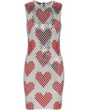 Платье с пайетками модерн Paco Rabanne