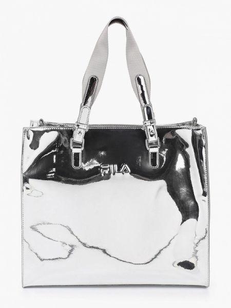 Кожаная сумка весенний лаковый Fila