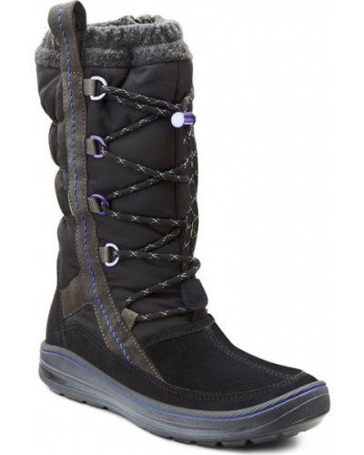 Зимние сапоги замшевые кожаный Ecco