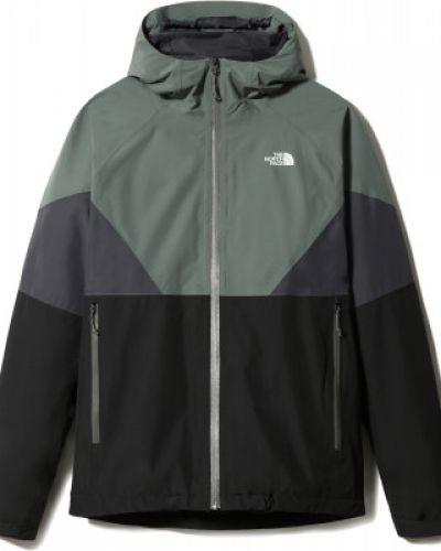Серая куртка мембранная на молнии The North Face