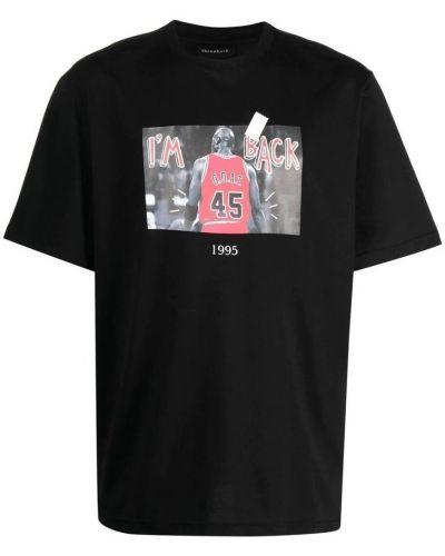Czarna t-shirt Throwback