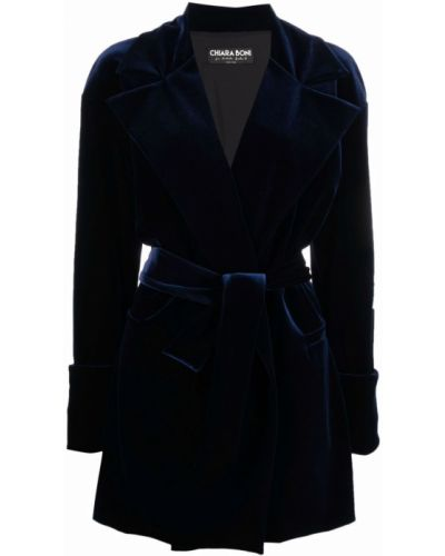 Синее пальто с карманами Le Petite Robe Di Chiara Boni