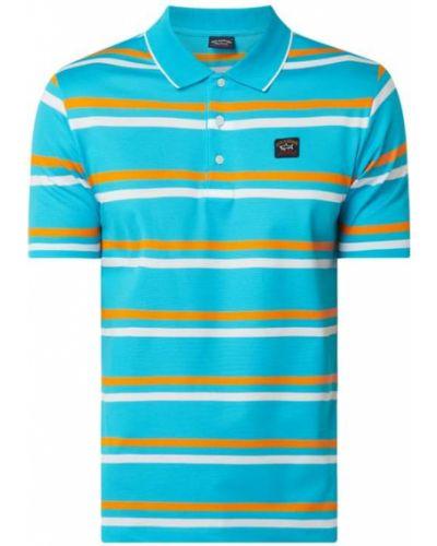 T-shirt bawełniana - turkusowa Paul & Shark