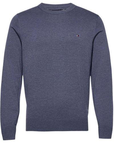 Niebieski sweter bawełniany Tommy Hilfiger