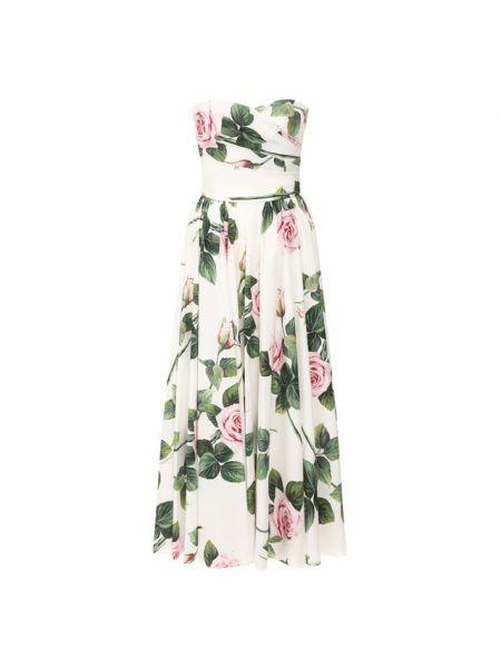 Платье миди макси из поплина Dolce & Gabbana