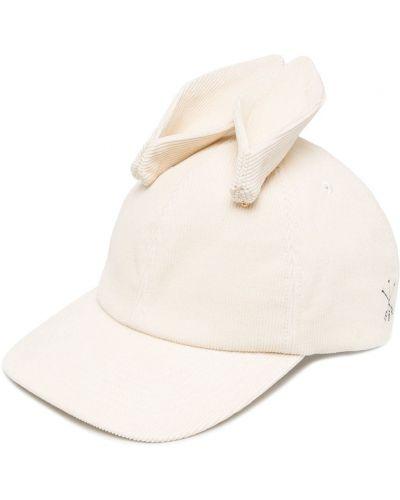 Beżowa czapka z haftem bawełniana Undercover