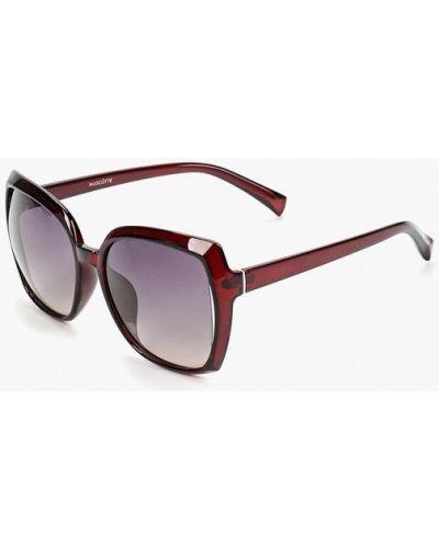 Солнцезащитные очки бордовый красный Mascotte