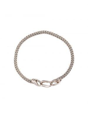 Klasyczna szeroki bransoletka srebrna John Hardy