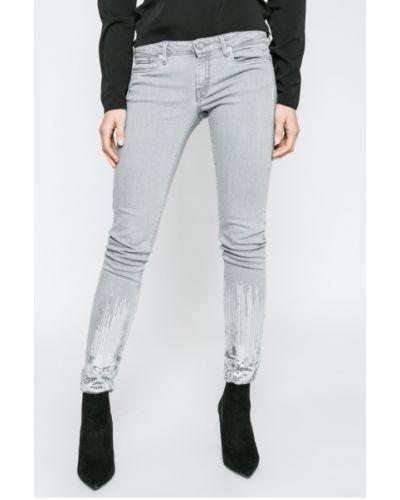 Серые джинсы-скинни Pepe Jeans
